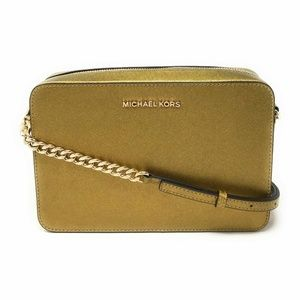 Michael Kors Jet Set Item Large Crossbody Old Gold